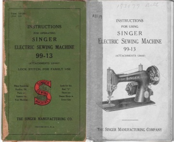Singer Operating Instructions